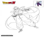 Coloriage dbz piccolo en plein vol dragon ball z officiel