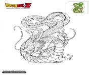Coloriage dbz shenron dragon ball z officiel