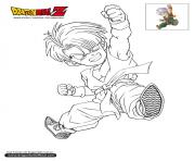 Coloriage dbz trunks enfant dragon ball z officiel
