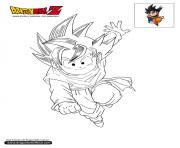 Coloriage dbz goten dragon ball z officiel