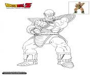 Coloriage dbz nappa dragon ball z officiel