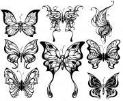 animaux papillons feeriques adulte dessin à colorier