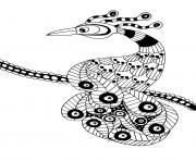 oiseau extraordinaire dessin à colorier