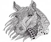 cheval adulte difficile plusieurs motifs dessin à colorier