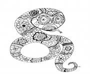 Coloriage adulte le serpent par olivier
