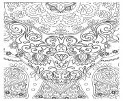 zen abstrait tete de chat dessin à colorier
