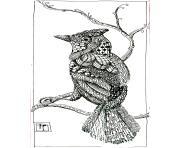 adulte animaux bel oiseau dessin à colorier
