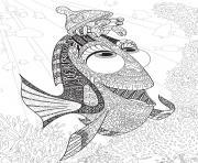 nemo monde de dory adulte poisson dessin à colorier
