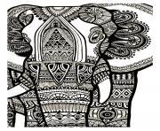 elephant gratuit adulte dessin à colorier