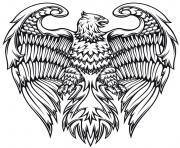 adulte animaux fantastiques aigle oiseau dessin à colorier