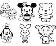 Coloriage Disney Cute Tsum Tsum