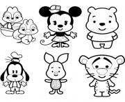 Disney Cute Tsum Tsum dessin à colorier
