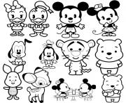 Coloriage Disney Cuties Tsum Tsum
