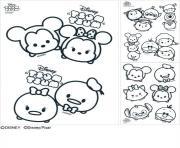 disney tsum tsum dessin à colorier