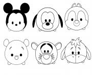 Coloriage tsum tsum disney facile enfant simple