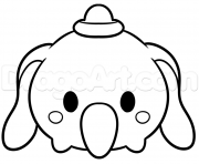 Coloriage tsum tsum dumbo disney