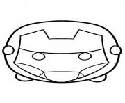 Coloriage tsum tsum iron man