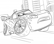 Coloriage lightning mcqueen from cars 3 disney
