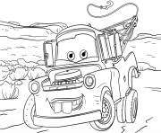 Coloriage tow mater from cars 3 disney