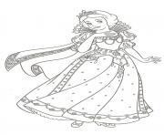 robe de princesse blanche neige dessin à colorier
