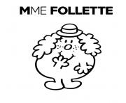 Coloriage monsieur madame mme follette