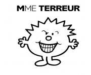 monsieur madame terreur dessin à colorier