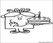 monsieur madame anniversaire dessin à colorier