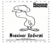 Coloriage monsieur madame endormi