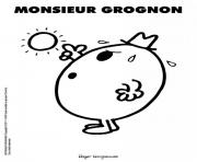 Coloriage monsieur madame grognon