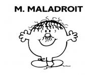 Coloriage monsieur madame maladroit