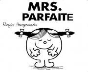 monsieur madame parfaite dessin à colorier
