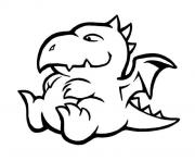 Coloriage animaux mignon bebe dragon