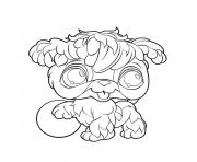 Coloriage animaux mignon pet shop lion