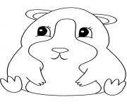 animaux mignon bebe zhu zhu pets dessin à colorier