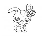 Coloriage animaux mignon pet shop lapin