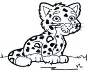 animaux mignon bebe guepard dessin à colorier