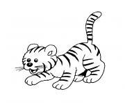 animaux mignon bebe tigre dessin à colorier