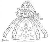 la belle barbie se prepare pour son bal dessin à colorier