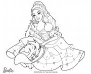 Coloriage princesse barbie la mousquetaire