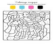 magique du bebe dun animal dessin à colorier