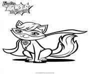 barbie princesse parker le chat de kara dessin à colorier