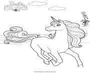 barbie et la porte secrete la reine licorne dessin à colorier