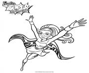 Coloriage barbie princesse kara super princesse
