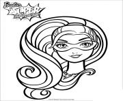 Coloriage barbie princesse portrait de super paillette