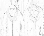 moi moche et mechant 3 gru frere jumeau dessin à colorier