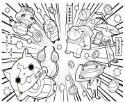 Coloriage attack mega komasan yokai watch 2