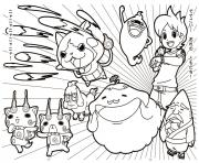 Coloriage name youkai watch 2 sketch