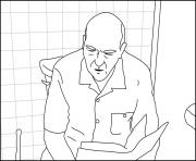 Hank on a toilet Breaking Bad dessin à colorier
