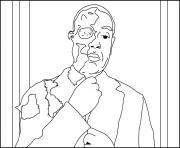 Coloriage Two Face Gus Breaking Bad