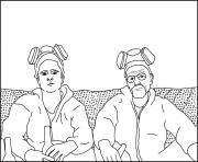 Coloriage jesse and walt breaking bad